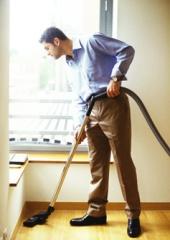 man_vacuuming