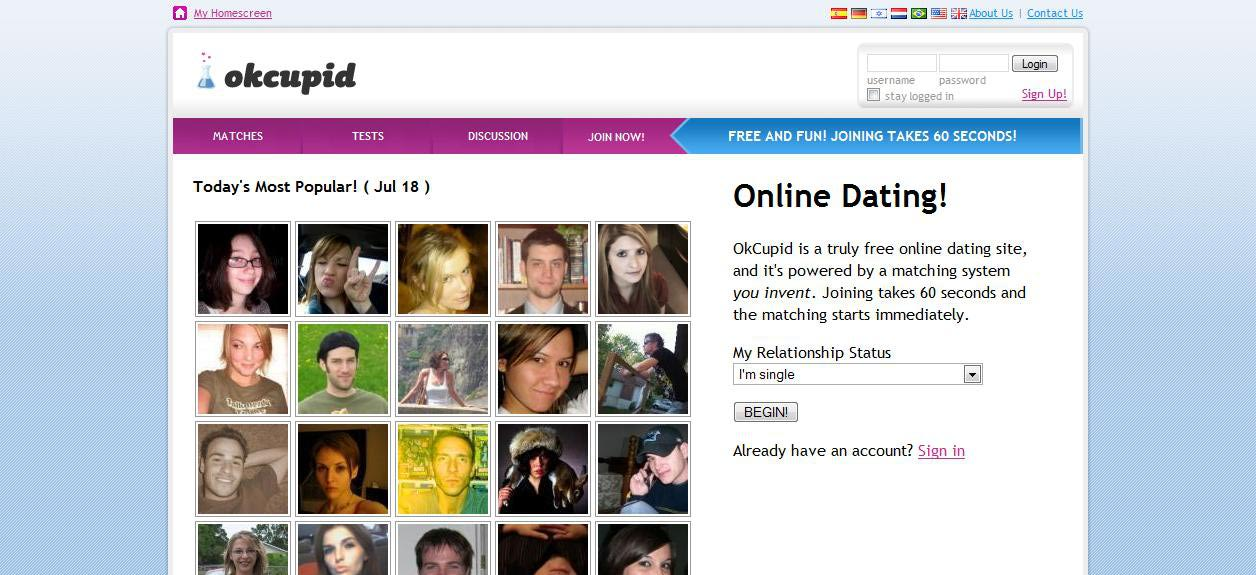 Okcupid online dating site