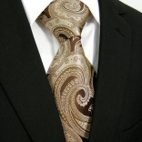 Paisley-Brown-Chocolate-Mens-Ties-Neckties-100-Silk-Jacquard-Woven-Ties-For-Men-Brands-Ties-For