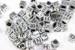 Freeshipping-200pcs-6-7mm-font-b-Silver-b-font-Gray-Plastic-font-b-Square-b-font